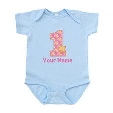 First Birthday Girl Star Infant Bodysuit