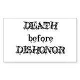 Death before Dishonor Rectangle Decal