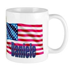 Daniele Personalized USA Flag Mug