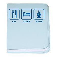 Eat Sleep Write baby blanket