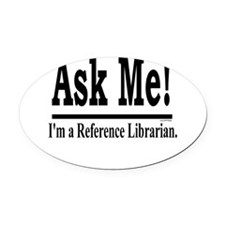 askme.jpg Oval Car Magnet