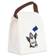 Alaska Penguin Canvas Lunch Bag