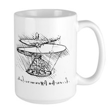 2 sided Da Vinci Aerial Screw Mug