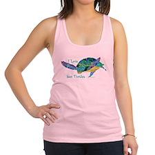 I Love Sea Turtles 2 Racerback Tank Top