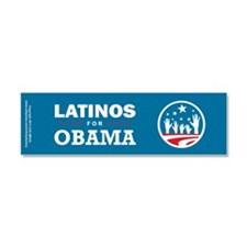 Latinos for Obama Car Magnet 10 x 3