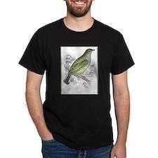 Honey Guide Bird (Front) Black T-Shirt