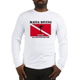 Italian Mafia Mob love diving gifts Long Sleeve T-