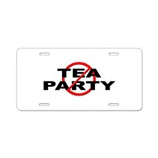 Anti / No Tea Party Aluminum License Plate