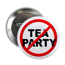 "Anti / No Tea Party 2.25"" Button (100 pack)"