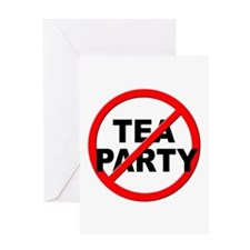 Anti / No Tea Party Greeting Card