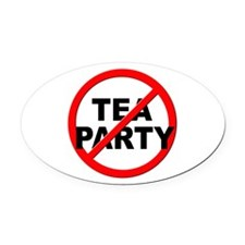 Anti / No Tea Party Oval Car Magnet