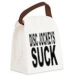discjockeyssuck.png Canvas Lunch Bag