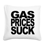 gaspricessuckblk.png Square Canvas Pillow