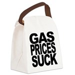 gaspricessuckblk.png Canvas Lunch Bag