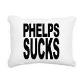 phelpssucksblk.png Rectangular Canvas Pillow