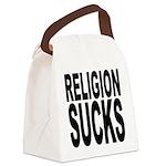religionsucksblk.png Canvas Lunch Bag