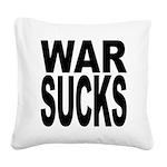 warsucksblk.png Square Canvas Pillow