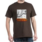 Snakes on a Coordinate Plane Black T-Shirt