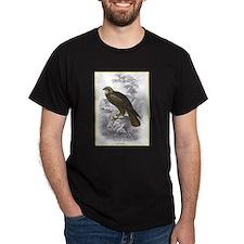 Marsh Harrier Bird (Front) Black T-Shirt