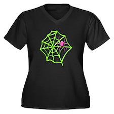 Arachneon1 Women's Plus Size V-Neck Dark T-Shirt