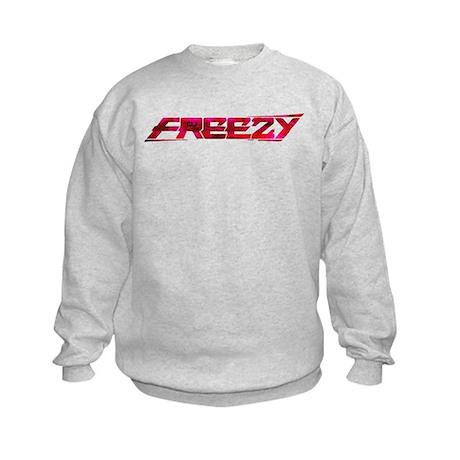 freezy_trans_pink_cafepress.png Kids Sweatshirt