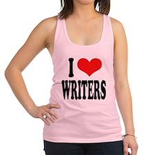 ilovewritersblk.png Racerback Tank Top