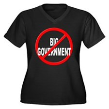 Anti / No Big Government Women's Plus Size V-Neck