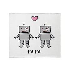 Robot Love - Doki Doki Throw Blanket