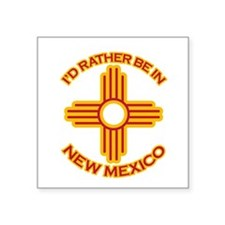 idratherbein-newmexico-outline.png Square Sticker