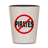 Anti / No Pirates Shot Glass