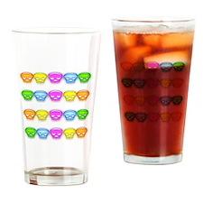 Neon Skulls Drinking Glass
