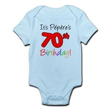 Pepere 70th Birthday Onesie