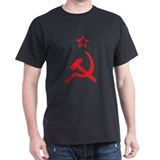 Star, Hammer and Sickle Black T-Shirt