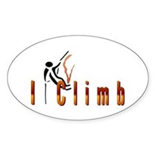 I Climb Oval Decal