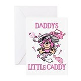 DADDY'S LITTLE CADDY Greeting Cards (Pk of 10)