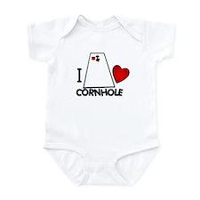 I Heart Cornhole Infant Creeper