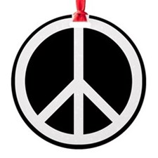 White Peace Sign Ornament