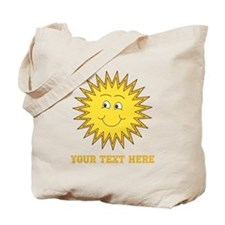 Sun with Custom Text. Tote Bag