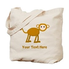 Monkey and Text. Tote Bag