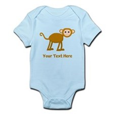 Monkey and Text. Onesie