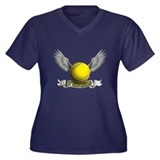 tennis Women's Plus Size V-Neck Dark T-Shirt