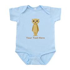 Meerkat with Text. Infant Bodysuit