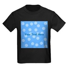 Blue Dots with Text. T