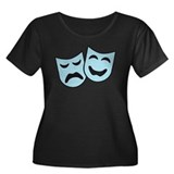 theater Women's Plus Size Scoop Neck Dark T-Shirt