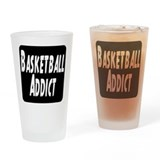 Basketball Addict Drinking Glass