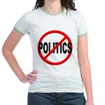 Anti / No Politics Jr. Ringer T-Shirt