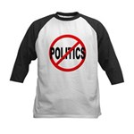 Anti / No Politics Kids Baseball Jersey