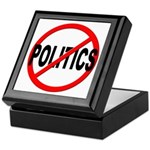 Anti / No Politics Keepsake Box