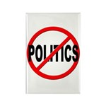 Anti / No Politics Rectangle Magnet (100 pack)