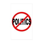 Anti / No Politics Sticker (Rectangle 10 pk)
